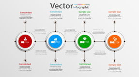 Διανυσματικός κύκλος infographic με τέσσερα βήματα Στοκ φωτογραφία με δικαίωμα ελεύθερης χρήσης