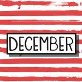 Διανυσματικός μήνας Δεκέμβριος ελεύθερη απεικόνιση δικαιώματος