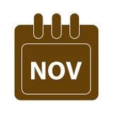 Διανυσματικός μήνας στο ημερολόγιο απεικόνιση αποθεμάτων