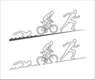 Διανυσματικός μαραθώνιος και triathlon λογότυπο διανυσματική απεικόνιση