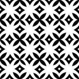 Διανυσματικός μαύρος άσπρος γεωμετρικός άνευ ραφής σχεδίου απεικόνιση αποθεμάτων