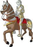 Διανυσματικός μεσαιωνικός ιππότης διανυσματική απεικόνιση