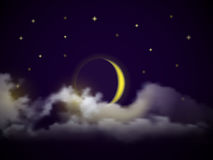Διανυσματικός νυχτερινός ουρανός Στοκ φωτογραφία με δικαίωμα ελεύθερης χρήσης