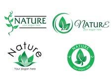 Διανυσματικός-λογότυπο-φύση-3 ελεύθερη απεικόνιση δικαιώματος