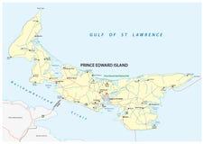 Διανυσματικός οδικός χάρτης νησιών του Edward πριγκήπων Στοκ φωτογραφία με δικαίωμα ελεύθερης χρήσης