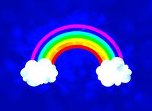 Διανυσματικός ουρανός με την καμμένος απεικόνιση ουράνιων τόξων, λάμποντας υπόβαθρο απεικόνιση αποθεμάτων