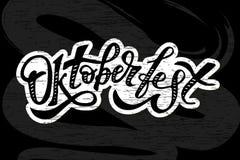 Διανυσματικός πίνακας κιμωλίας διακοπών κειμένων βουρτσών καλλιγραφίας Oktoberfest γράφοντας Στοκ Εικόνες