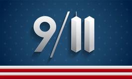 9/11 διανυσματικός πατριώτης απεικόνισης ημέρα ΗΠΑ, αναμνηστικό backgroun 911 απεικόνιση αποθεμάτων