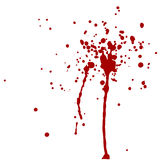 Διανυσματικός παφλασμός αίματος κόκκινοι παφλασμοί Στοκ Φωτογραφίες