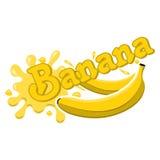 Διανυσματικός παφλασμός μπανανών Στοκ Εικόνες