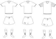 Διανυσματικός ποδοσφαιριστής ομοιόμορφος διανυσματική απεικόνιση