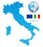 Διανυσματικός πράσινος χάρτης της Ιταλίας ελεύθερη απεικόνιση δικαιώματος