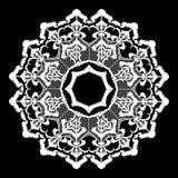 Διανυσματικός στρογγυλός τρύγος λουλουδιών δαντελλών Στοκ Εικόνες
