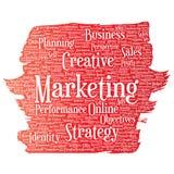 Διανυσματικός στόχος επιχειρησιακού μάρκετινγκ ανάπτυξης Στοκ Εικόνα