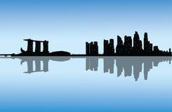 Διανυσματικός σύγχρονος ορίζοντας πόλεων στοκ εικόνα