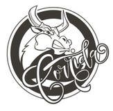 Διανυσματικός ταύρος πάλης απεικόνισης επιθετικός Στοκ εικόνα με δικαίωμα ελεύθερης χρήσης