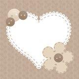 διανυσματικός τρύγος αγάπης καρδιών πλαισίων απεικόνιση αποθεμάτων