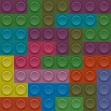 Διανυσματικός φραγμός Lego Στοκ εικόνα με δικαίωμα ελεύθερης χρήσης