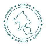 Διανυσματικός χάρτης νησιών Aka Απεικόνιση αποθεμάτων