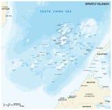 Διανυσματικός χάρτης νησιών Spratly Στοκ Εικόνες