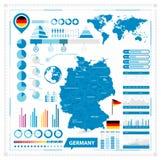 Διανυσματικός χάρτης της Γερμανίας και της infographic συλλογής στοιχείων Στοκ φωτογραφία με δικαίωμα ελεύθερης χρήσης