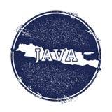 Διανυσματικός χάρτης της Ιάβας ελεύθερη απεικόνιση δικαιώματος