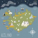 Διανυσματικός χάρτης της Ισλανδίας διανυσματική απεικόνιση