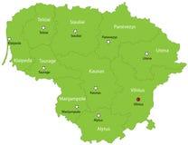 Διανυσματικός χάρτης της Λιθουανίας διανυσματική απεικόνιση