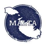 Διανυσματικός χάρτης της Μάλτας διανυσματική απεικόνιση