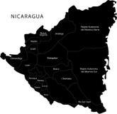 Διανυσματικός χάρτης της Νικαράγουας διανυσματική απεικόνιση