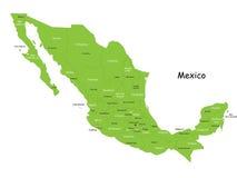 Διανυσματικός χάρτης του Μεξικού Στοκ Εικόνες