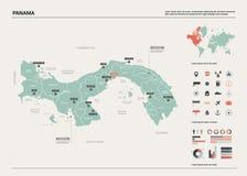 Διανυσματικός χάρτης του Παναμά ελεύθερη απεικόνιση δικαιώματος