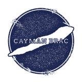 Διανυσματικός χάρτης Brac Cayman ελεύθερη απεικόνιση δικαιώματος