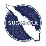 Διανυσματικός χάρτης Sumatra απεικόνιση αποθεμάτων