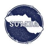 Διανυσματικός χάρτης Sumba διανυσματική απεικόνιση