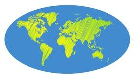 Διανυσματικός χάρτης watercolor διανυσματική απεικόνιση