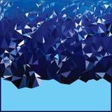 Διανυσματικός χαμηλός πολυ Αφηρημένο Polygonal γεωμετρικό υπόβαθρο τριγώνων Στοκ Φωτογραφία