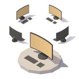 Διανυσματικός χαμηλός πολυ υπολογιστής Στοκ φωτογραφίες με δικαίωμα ελεύθερης χρήσης