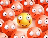 Διανυσματικός χαρακτήρας Smiley το μόνο πρόσωπο χαμόγελου που παρουσιάζει ευτυχία ελεύθερη απεικόνιση δικαιώματος