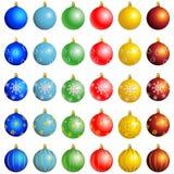 διανυσματικός χειμώνας Χριστουγέννων σφαιρών Στοκ Φωτογραφίες