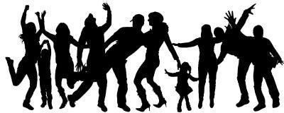 Διανυσματικός χορός σκιαγραφιών ελεύθερη απεικόνιση δικαιώματος