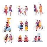 Διανυσματικός χρόνος διασκέδασης ελεύθερου χρόνου φιλίας φίλων κοριτσιών διανυσματική απεικόνιση