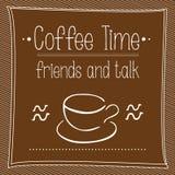 Διανυσματικός χρόνος Cofee αφισών Στοκ Εικόνες