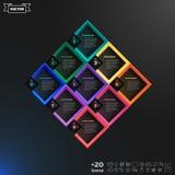 Διανυσματικός infographic κατάλογος σχεδίου με τα ζωηρόχρωμα rhombs Στοκ Φωτογραφίες