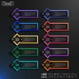 Διανυσματικός infographic κατάλογος σχεδίου με τα ζωηρόχρωμα rhombs Στοκ φωτογραφία με δικαίωμα ελεύθερης χρήσης