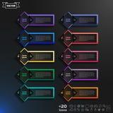 Διανυσματικός infographic κατάλογος σχεδίου με τα ζωηρόχρωμα rhombs Στοκ Φωτογραφία
