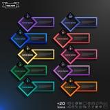 Διανυσματικός infographic κατάλογος σχεδίου με τα ζωηρόχρωμα rhombs Στοκ Εικόνες