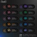 Διανυσματικός infographic κατάλογος σχεδίου με τους ζωηρόχρωμους κύκλους Στοκ φωτογραφία με δικαίωμα ελεύθερης χρήσης