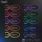 Διανυσματικός infographic κατάλογος σχεδίου με τους ζωηρόχρωμους κύκλους Στοκ Εικόνες