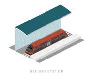 Διανυσματικός isometric του υπόγειου τρένου Στοκ Εικόνες